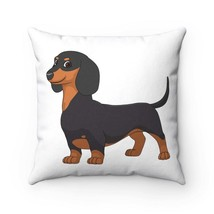 Dachshund Spun Polyester Square Pillow - $30.00