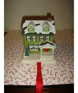 Hallmark Christmas In Evergreen Stocking Holder Green House - $26.99