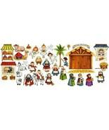 Nativity Scene Felt Figures for Flannel Board Stories Birth of Jesus Chr... - $37.12