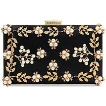 Milisente Women Clutches Pearls Evening Bag Clutch Purse Bags Black - $27.11