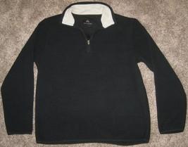NEW WEATHERPROOF 1/2 Zip Fleece Jacket MENS MEDIUM M MD BLACK $55.00 NWT TOP - $28.01