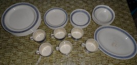 Lot 31 Blue Country Tweed England J&G Meakin replacement Dishes plates p... - $84.12