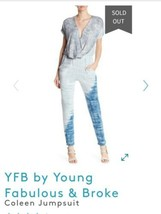 NWT Young Fabulous & Broke Multicolor Coleen Tie-dye Romper/Jumpsuit Xsmall - $59.39