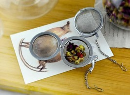 "Tea Infuser Ball Mesh Loose Leaf Herb Strainer Stainless Steel Secure 2"" a F01 - $4.88"