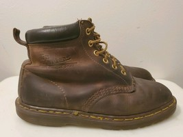 Vintage Dr. Martens Brown Leather Punk Goth Chukka Boots for Men, Size 7... - $37.40