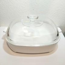 Vintage Corning Ware Micro Mate MW-16 White Casserole Dish Pan w/ Lid - $28.02