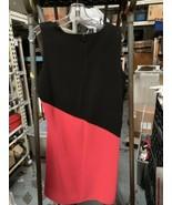 Calvin Klein Watermelon & Black Cap Sleeve Shift Dress Size 14 NWT - $35.39