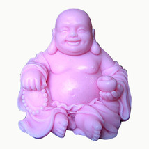 egbhouse, 3D Silicone Soap & Candle Mold, plaster mold – Happy Buddha - $46.28