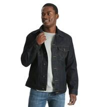 Wrangler Jeans Giacca Uomo Blu Scuro Risciacquo Taglia L Cappotto Nuovo - $40.39