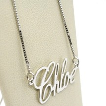 18K WHITE GOLD NAME NECKLACE, CHLOE, AVAILABLE ANY NAME, MADE IN ITALY image 2