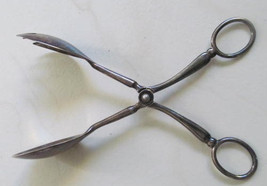 Vintage E.R. Zinc Silverplated Silver Plate Salad Serving Ice Tongs Ital... - $19.99