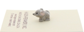 Hagen-Renaker Miniature Ceramic Mouse Figurine Tiny Baby with Curled Tail image 2