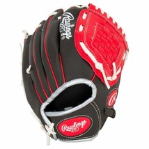 "Rawlings Players Series Youth Tball/Baseball Gloves 10"" RHT Red/Black - $20.65"