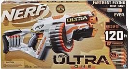 NERF Ultra One Motorized Blaster -- 25 Ultra Darts -- Farthest Flying Darts Ever - $69.99