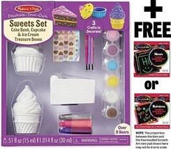 Decorate-Your-Own Sweets Set (Cake Bank, Cupcake & Ice Cream Treasure Bo... - $24.70