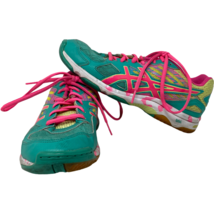 Asics Womens B456N Gel Flashpoint 2 Volleyball Teal Pink Shoes Size 7  - $59.39