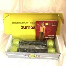 Set 2 Zumba Fitness Series 2 Black Green 1 LB. Shaker Weights + Body Gui... - $21.77