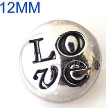 Silver LOVE 12mm Mini Petite Charm For Ginger Snaps Magnolia Vine - $6.19