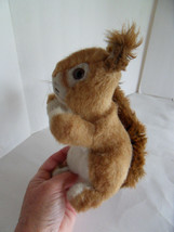 Steiff squirrel large with button flag stuffed animal made in Germany 1688 - $42.22