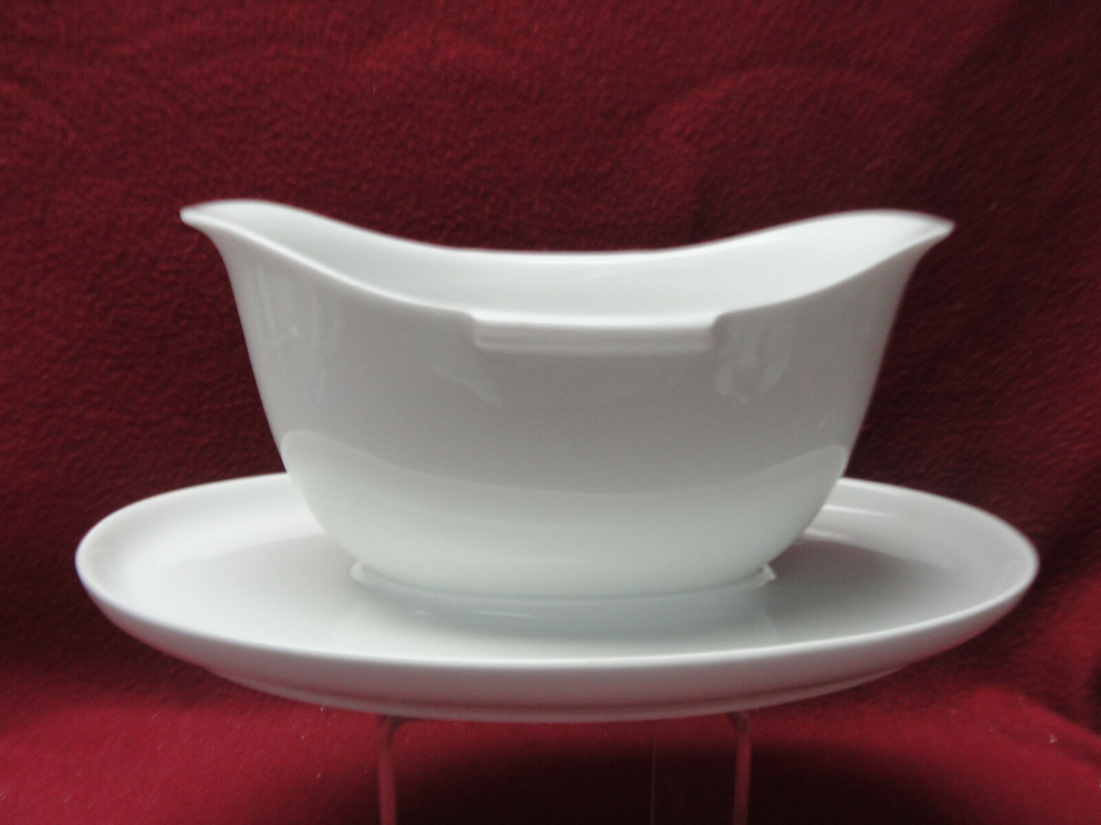 Primary image for ROSENTHAL China - HELENA Pattern (all white) - GRAVY BOAT