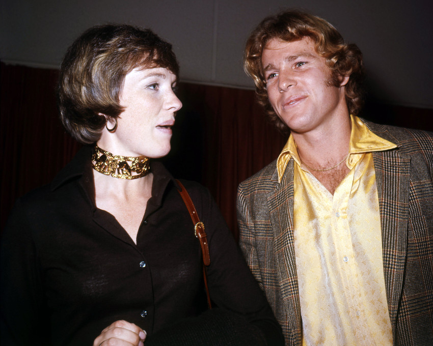 Primary image for Julie Andrews and Ryan O'Neal Candid Rare Image Circa 1970 16x20 Canvas