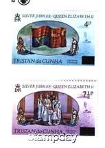 TRISTAN DU CUNHA 1977 # 220-21 SILVER JUBILEE # 220-21 MLH 2426-A1 - $4.95