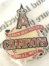 MLB Anaheim Angels Season Seat Ticket Holder 2005 AL West Champions Pin - $12.87