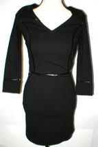 New Womens NWT $1200 Designer Emporio Armani Dress Black IT 40 4 Piping ... - $962.00
