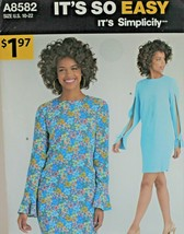 Simplicity Sewing Pattern A8582 Misses Dress Sizes 10-22 Easy  - $6.89