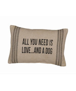 """All You Need is Love and a Dog Pillow Primitives by Kathy 15"""" by 10"""" Dog... - $20.50"""