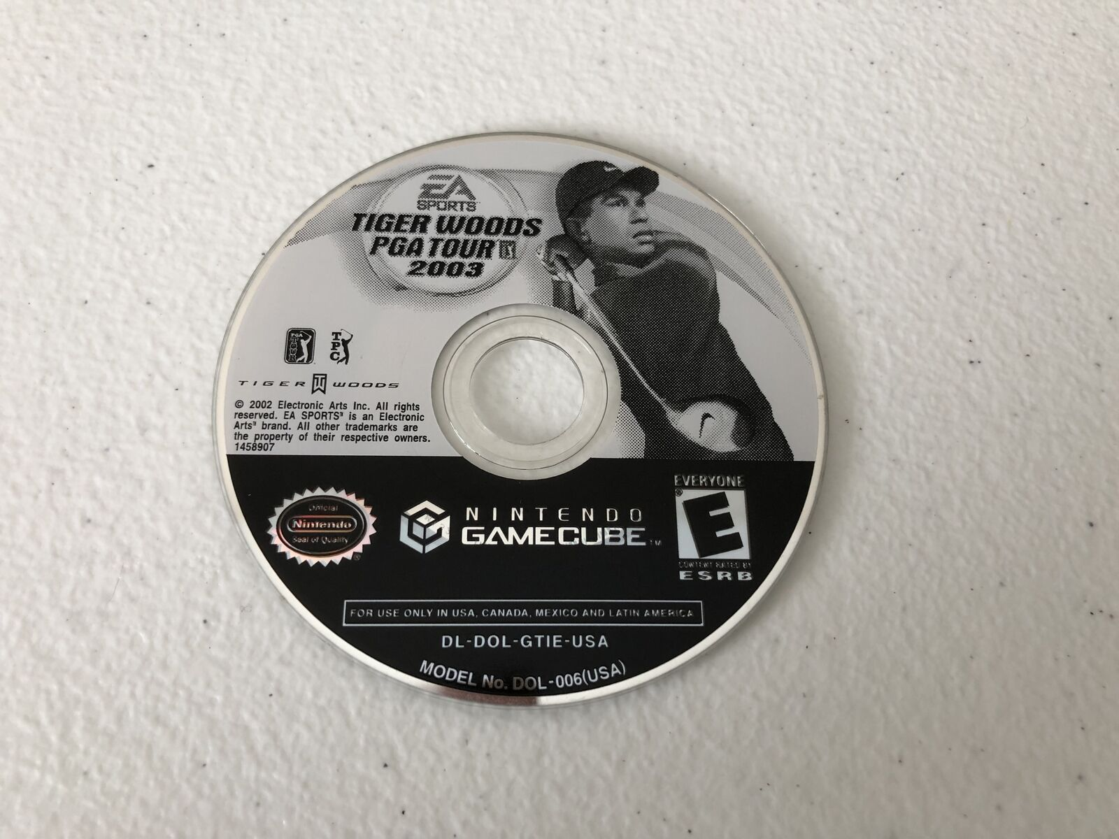Tiger Woods 2003 - Nintendo Gamecube - Cleaned & Tested