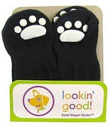 Fashion Pet Lookin Good Solid Slipper Socks for Dogs, Small, Black - $7.83