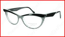 Face A Face Eyeglasses Frame Ebony 4 AT17 Acetate Black Crystal 50-16-135 31 - $275.48