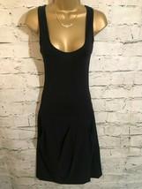 DKNY Donna Karan Ladies Classic Black Drop Waist Wool Tank Dress US 4 UK 8 - $99.74