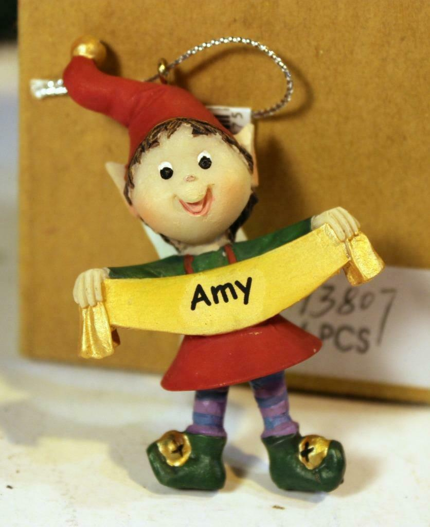 Primary image for CHRISTMAS ORNAMENTS - WHOLESALE- RUSS BERRIE-#13807- 'AMY'-  4 PCS- NEW - W742