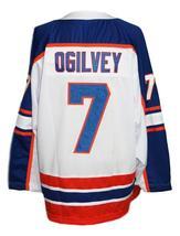 Any Name Number Halifax Highlanders Retro Hockey Jersey White Ogilvey Any Size image 5