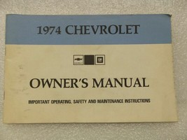 1974 Chevrolet Chevy Owners Manual 16016 - $16.82