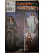 Simplicity 9891 Wrights Costumes Medieval Long Dress Roman, Cosplay Costume - $15.00