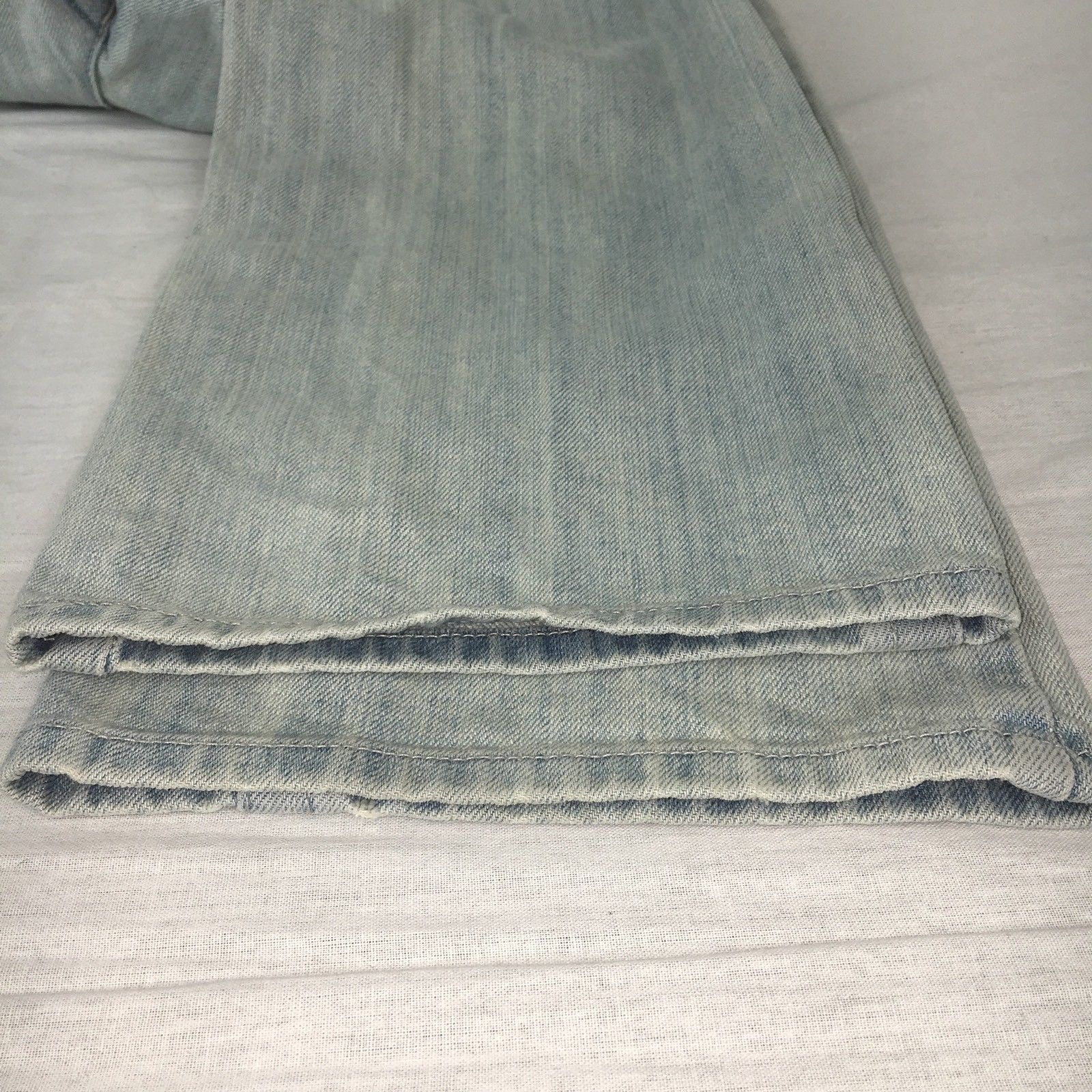 Marithe Francois Girbaud Womens Jeans Straight Leg Light Wash Distressed Size 30