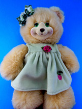 """Hollyberry 10"""" Bear Doll In Green Dress by Fisher Price and Mattel 1998 - $11.13"""