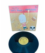 "Disney Lets Have Parade lp 33 rpm record book vinyl 12"" case cover march... - $24.14"