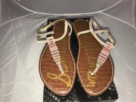 Sam Edelman Gig Bright multi strip thong sandal womens size 10  - $59.40