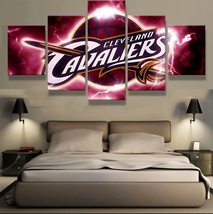 5pcs cleveland cavaliers team printed canvas wall art picture home decor thumb200