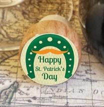 Wine Stopper, Happy St. Patrick's Day Handmade Wood Bottle Stopper, Hors... - $8.86