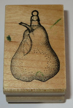 Stampa Barbara Pear Ornament Rubber Stamp Fruit Christmas Retired Rare H... - $10.66