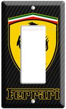 Ferrari Car Scuderia Shield Simbol Emblem Logo Gfi Light Switch Wall Plate Cover - $8.99