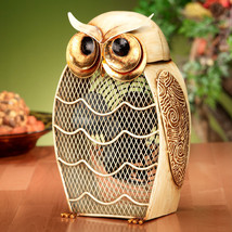 DecoBreeze Snow Owl Figurine Fan - DBF0187 - $84.99