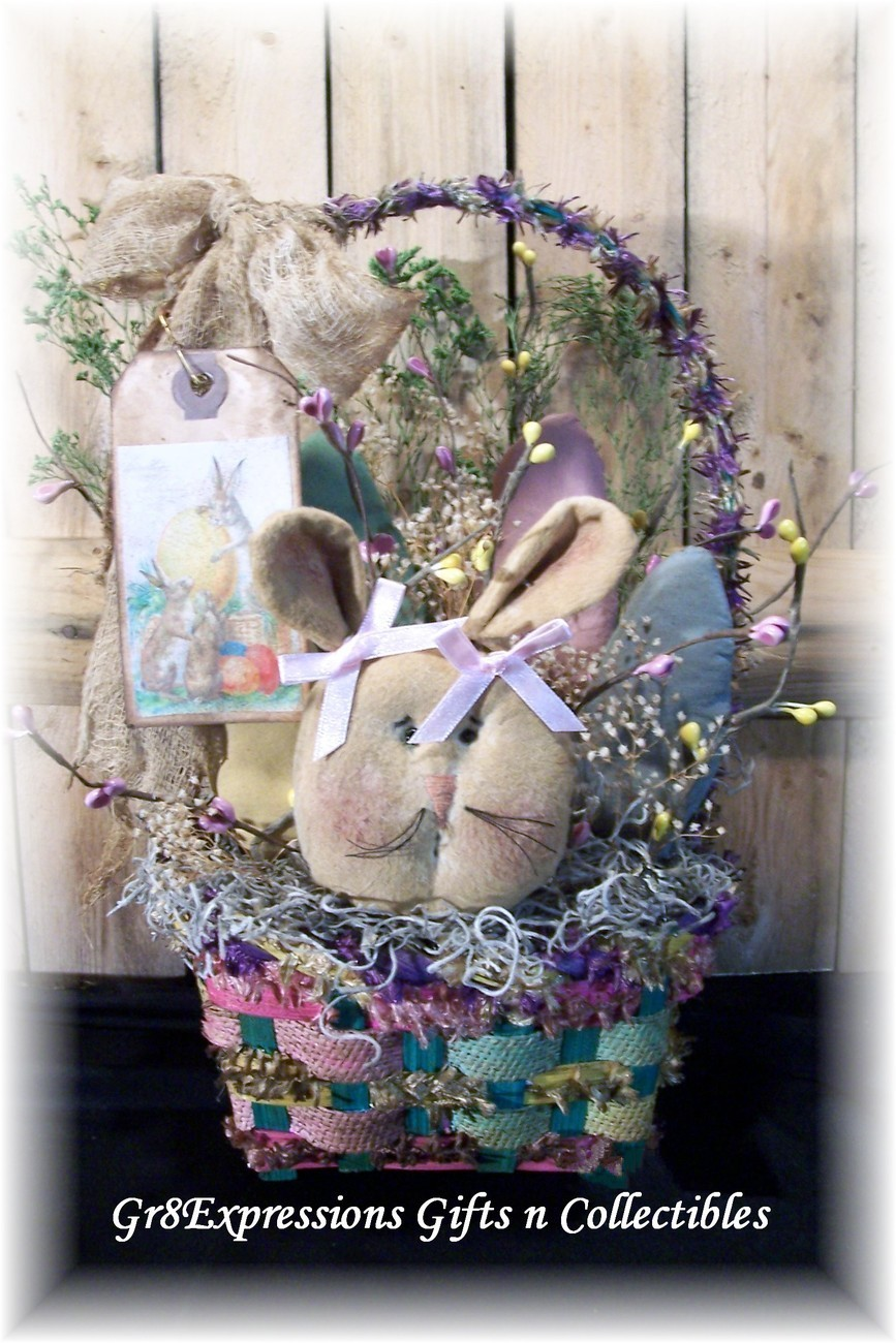 Small easter basket w bunny