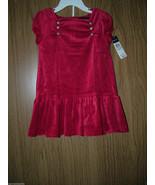 Ralph Lauren Infant Girl 2 Pc Velour Dress Set, Red Color, Size 24 Month... - $25.73
