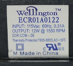 Wellington ECR01A0122 Fan Motor HVAC Part Enclosed Thermally Protected image 8